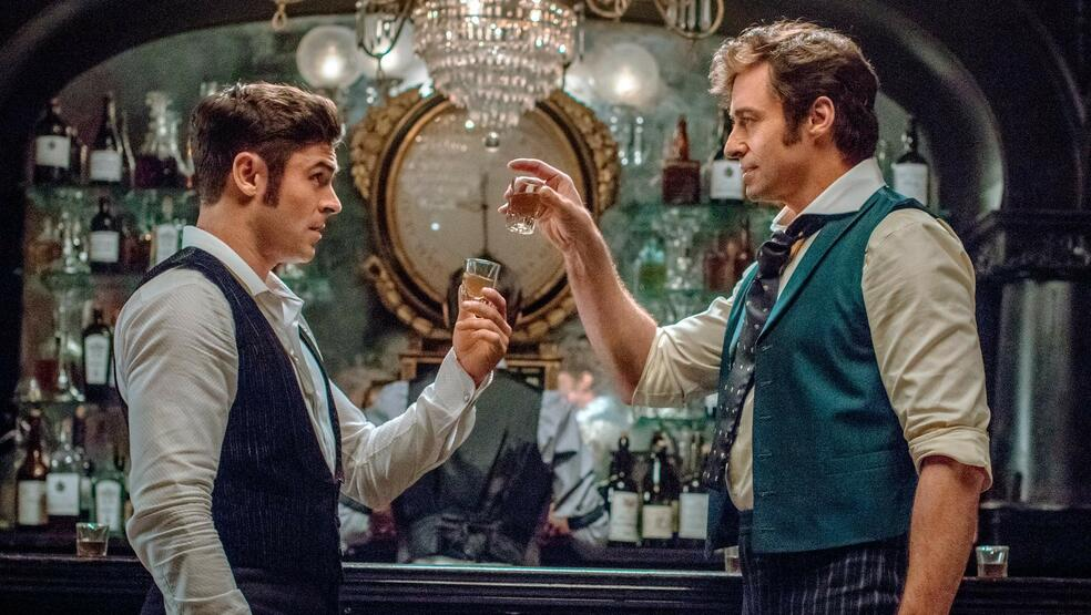 The Greatest Showman mit Hugh Jackman und Zac Efron