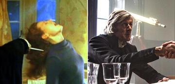 Voldemort: Richard Bremmers Arm in Harry Potter 1 und sein Gesicht im herzen der See