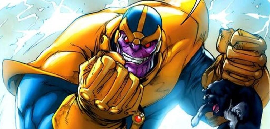 Thanos will das Wesen Tod beeindrucken, indem er Galaxien zerstört