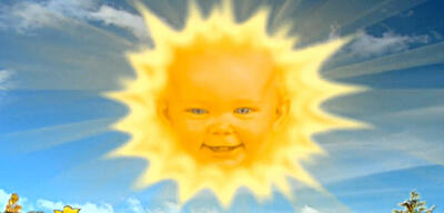 Die Teletubbies-Sonne