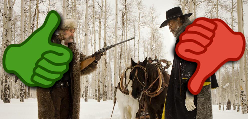 Zwei Männer im Jänner im Schnee