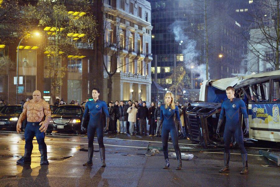 Fantastic Four mit Jessica Alba, Chris Evans, Michael Chiklis und Ioan Gruffudd