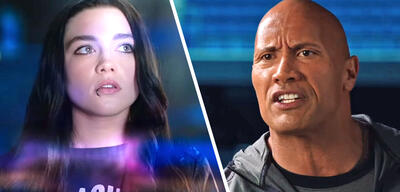Florence Pugh und Dwayne Johnson in Fighting with my Family