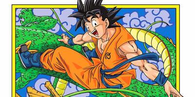 Son-Goku auf dem Rücken von Shenlong