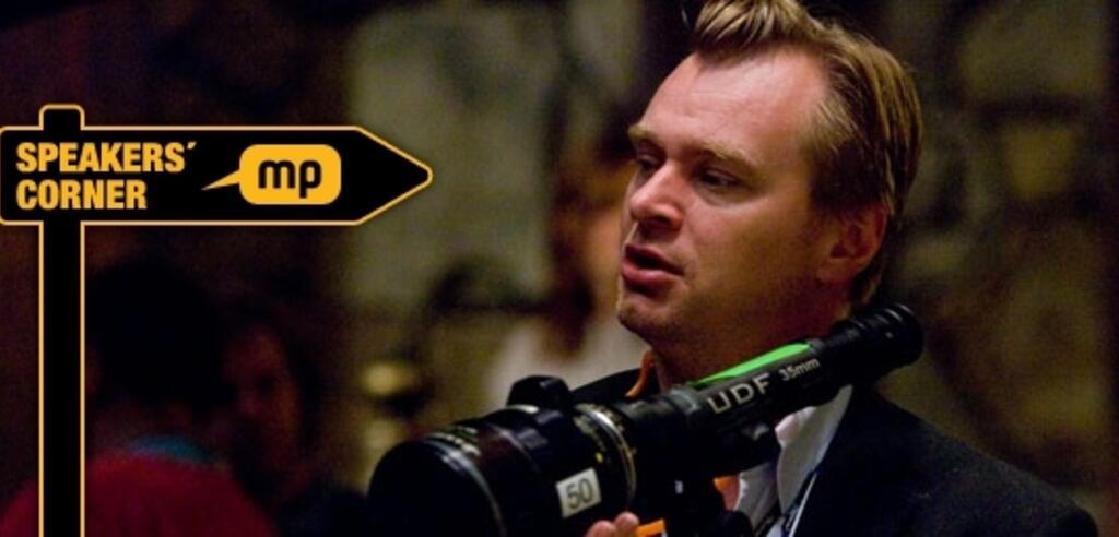 Christopher Nolan bei der Arbeit