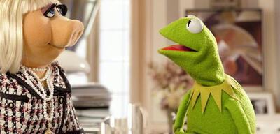 Kermit, der Frosch mit Miss Piggy