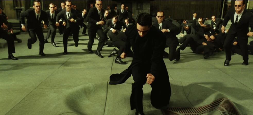Matrix Reloaded mit Keanu Reeves