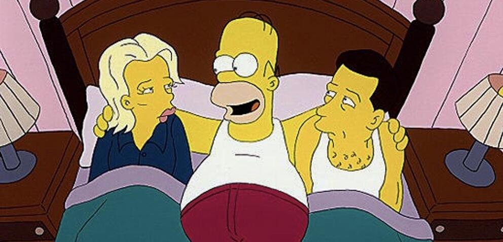 Die Simpsons: Homer mit Kim Basinger und Alec Baldwin