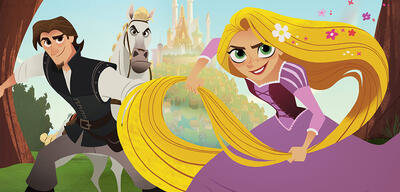 Rapunzel macht sich zusammen mit Eugene auf in neue Abenteuer