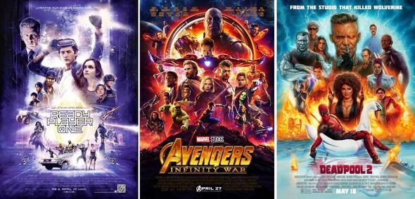 Ready Player One, Avengers 3: Infinity War, Deadpool 2