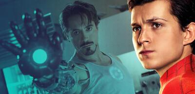 Robert Downey Jr. in Iron Man und Tom Holland in Spider-Man: Far From Home
