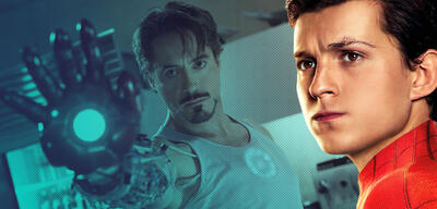 Robert Downey Jr. in Iron Man und Tom Holland in Spider-Man: Far From Home