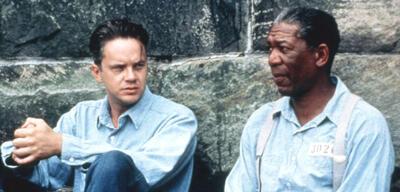 Tim Robbins und Morgan Freeman in Die Verurteilten