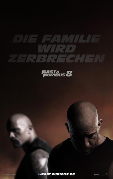 Fast & Furious 8 mit Dwayne Johnson und Vin Diesel