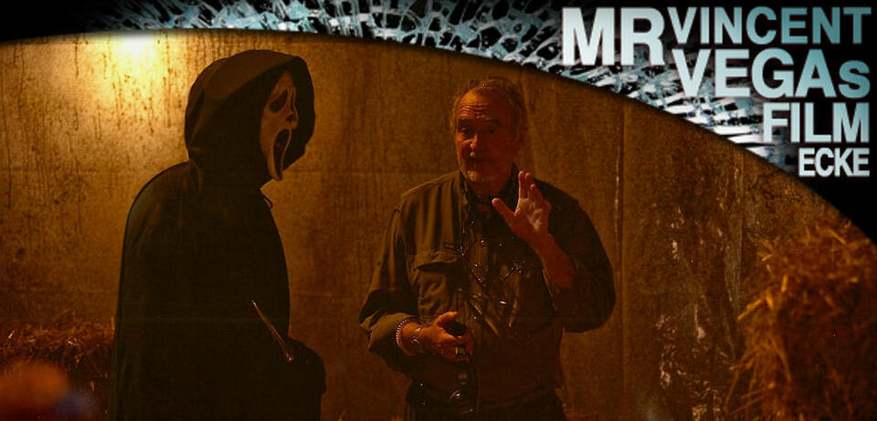 Wes Craven am Set von Scream 4