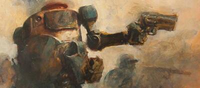 Ashley Wood ist bekannt für seinen individuellen Stil. Hier in World War Robot