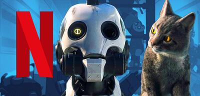 Ein Roboter und eine Katze inLove, Death & Robots