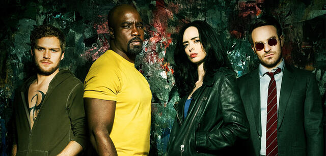 Iron Fist, Luke Cage, Daredevil und Jessica Jones