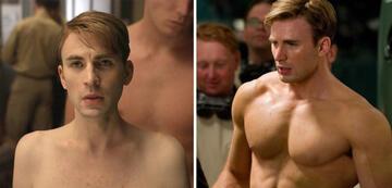 Captain America vor und nach dem Super Soldier Serum