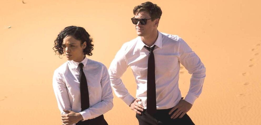 Tessa Thompson und Chris Hemsworth in Men in Black: International