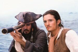 Fluch der Karibik mit Johnny Depp und Orlando Bloom