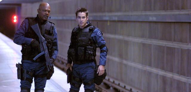 Samuel L. Jackson und Colin Farrell im Film S.W.A.T. - Die Spezialeinheit