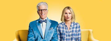 Ted Danson und Kristen Bell in The Good Place