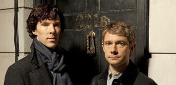 Bild zu:  Benedict Cumberbatch und Martin Freeman