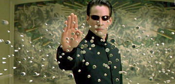 Matrix: Neo nach seiner Transformation