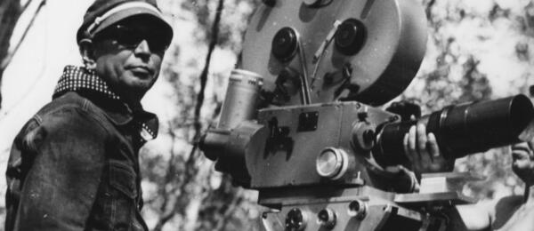 Akira Kurosawa am Set zu Uzala, der Kirgise
