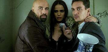 Bild zu:  Travolta, Smutniak und Rhys Meyers (v.l.) sind die Hauptdarsteller in From Paris with Love