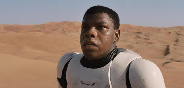 John Boyega in Star Wars Episode VII