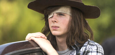 Carl in The Walking Dead