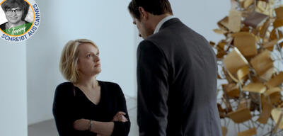 Elizabeth Moss, Claes Bang und Kunst (rechts) in The Square