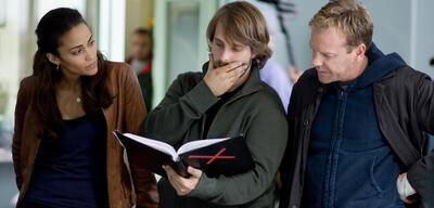 Alexandre Aja bei den Dreharbeiten zu Mirrors