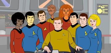 Die Crew der Zeichentrick-Enterprise