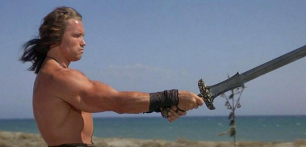 Arnold Schwarzenegger in Conan der Barbar von 1982