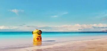 Minion am Strand