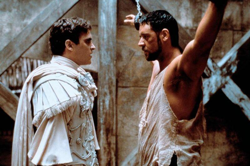 Gladiator mit Russell Crowe und Joaquin Phoenix