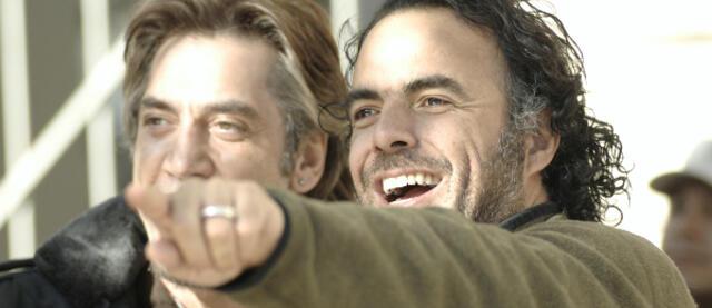 Alejandro González Iñárritu mit Javier Bardem am Set von Biutiful