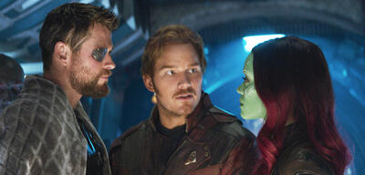Ach so! Thor, Star-Lord und Gamora in Infinity War