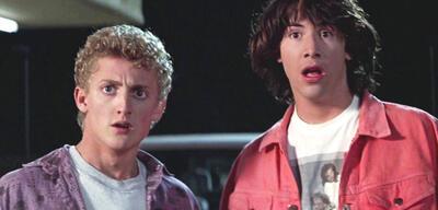 Alex Winter und Keanu Reeves und als Bill & Ted