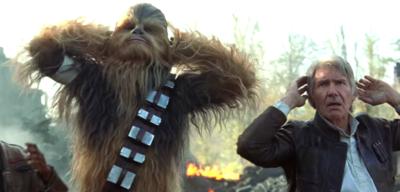 Chewbacca (l.) in Star Wars: Episode VII - Das Erwachen der Macht
