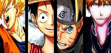 Son-Goku, Ruffy, Naruto und Ichigo