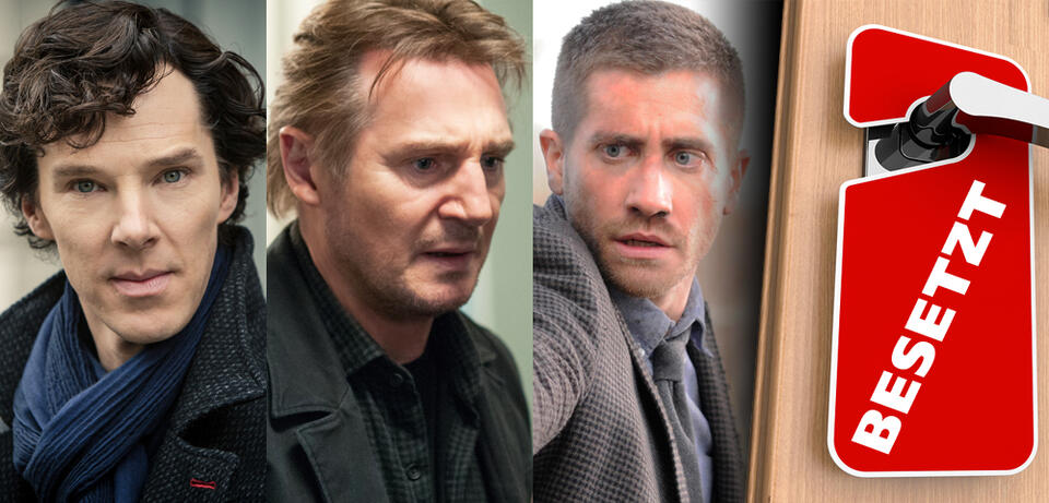 Benedict Cumberbatch in / Liam Neeson in Non-Stop / Jake Gyllenhaal in Source Code