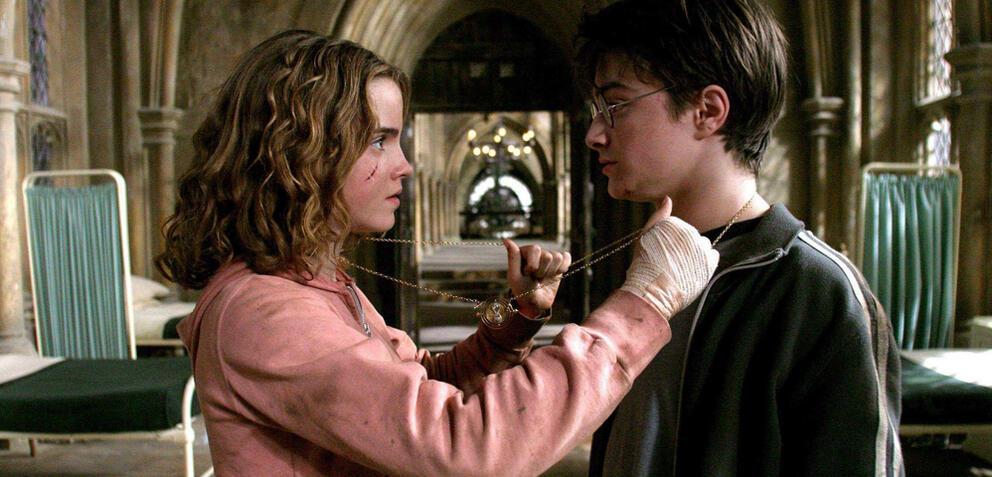 Emma Watson und Daniel Radcliffe in Der Gefangene von Askaban.