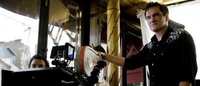 Quentin Tarantino am Set von Inglourious Basterds