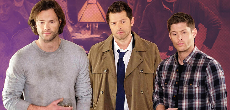 Jared Padalecki, Misha Collins und Jensen Ackles in Supernatural