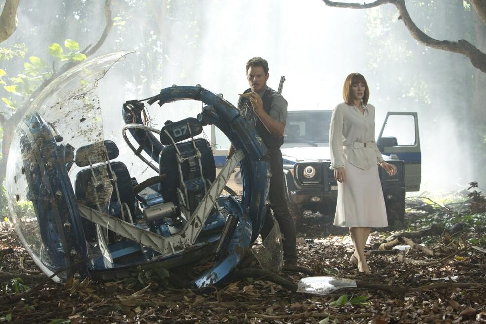 Jurassic World mit Chris Pratt und Bryce Dallas Howard