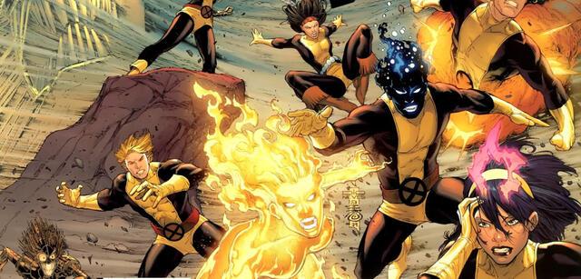 Einige der New Mutants aus den X-Men-Comics